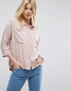 Свободная рубашка с карманами ASOS - Розовый