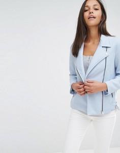 Байкерская куртка из искусственной замши Missguided - Синий