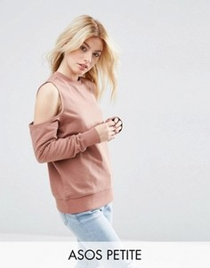 Свитшот с открытыми плечами ASOS PETITE - Розовый
