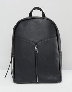 Рюкзак на молнии спереди Pieces - Черный