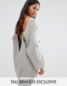 Джемпер крупной вязки Glamorous Tall - Серый