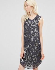 Платье с пайетками Y.A.S Brilliant - Мульти