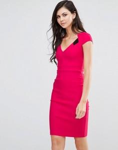 Платье-футляр с разрезом Vesper - Розовый