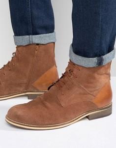 Светло-коричневые замшевые ботинки на шнуровке Frank Wright - Рыжий