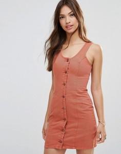 Цельнокройное платье на пуговицах спереди Minkpink Wild At Heart - Оранжевый