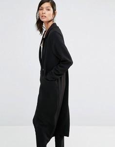 Легкое пальто свободного кроя Neon Rose - Черный