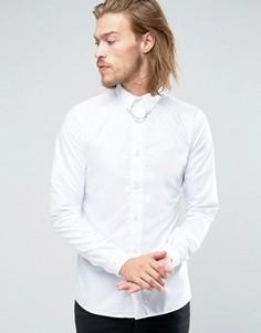 Облегающая рубашка Rogues of London - Белый