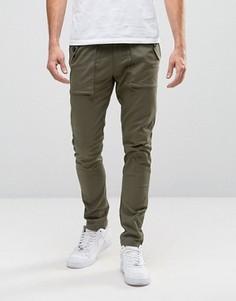 Зауженные брюки цвета хаки ASOS - Зеленый