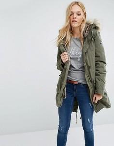Куртка на подкладке из искусственного меха Hilfiger Denim - Зеленый
