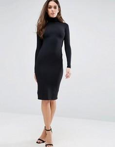 Облегающее платье мини с воротником поло ASOS - Черный