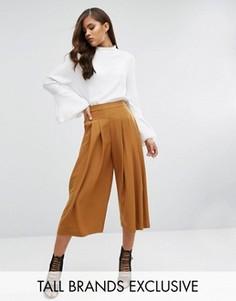 Плиссированная юбка-брюки Y.A.S Tall Cama - Желтый
