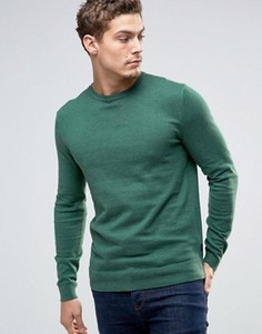 Джемпер из кашемировой смеси с круглым вырезом Esprit - Зеленый