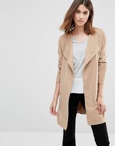 Пальто с поясом Vila - Бежевый