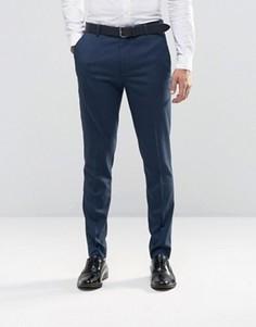 Темно-синие строгие зауженные брюки New Look - Темно-синий