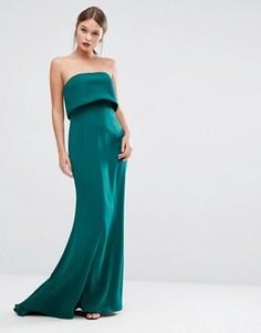 Двуслойное платье без бретелек Jarlo - Зеленый