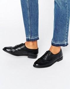 Кожаные броги New Look - Черный