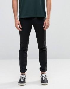 Черные зауженные джинсы стретч Solid - Черный