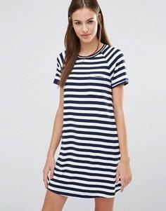 Платье-футболка в полоску Abercrombie & Fitch - Мульти
