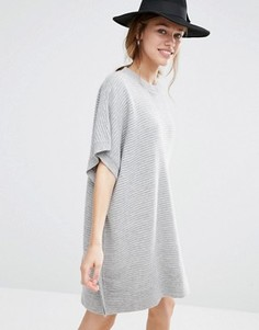 Вязаное платье-джемпер Just Female Carla - Серый