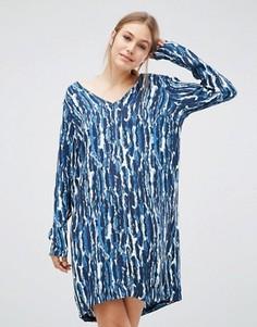 Драпированное платье Just Female Mirage - Синий