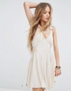 Платье с люверсами Moon River - Бежевый