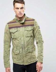 Камуфляжная куртка Scotch and Soda - Зеленый