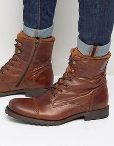 Кожаные ботинки на шнуровке ALDO Lemond - Рыжий