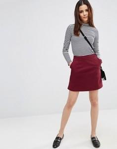 Джинсовая юбка-трапеция ASOS - Красный