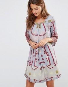 Платье с цветочным принтом Lavand - Серый