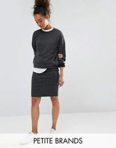 Трикотажная мини-юбка Vero Moda Petite - Серый