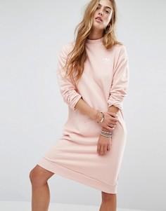 66174a819c4b0 Светло-розовое трикотажное платье adidas Originals - Розовый