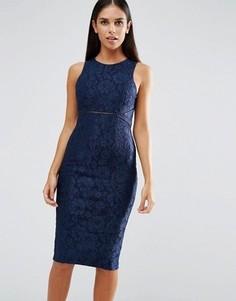 Платье-футляр без рукавов AX Paris - Темно-синий