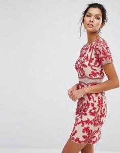 Декорированное платье с короткими рукавами Frock and Frill - Красный