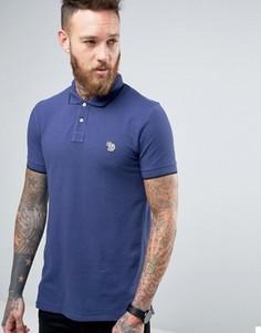 Футболка-поло узкого кроя с логотипом Paul Smith - Синий