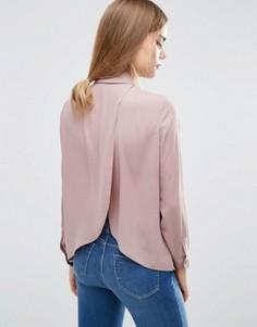 Блузка с запахом на спине ASOS - Фиолетовый