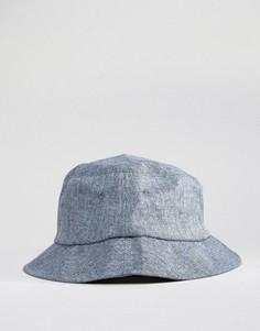 Панама из голубого хлопка шамбре New Look - Темно-синий