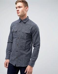 Плотная фактурная рубашка классического кроя Jack & Jones Vintage - Темно-синий