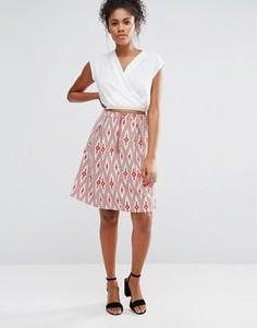 Расклешенная юбка миди с ацтекским принтом Glamorous - Мульти