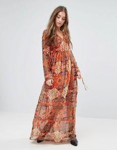 Платье макси с принтом Vero Moda Reba - Оранжевый