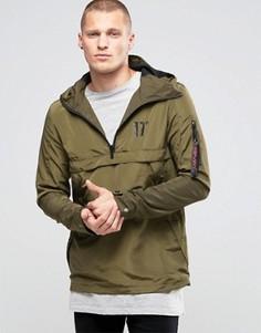 Легкая куртка через голову 11 Degrees - Зеленый