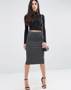 Облегающая юбка Pixie & Diamond - Серый