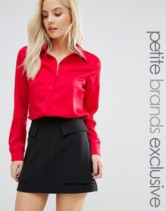 Сатиновая рубашка Fashion Union Petite - Красный