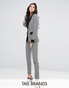 Узкие брюки в ломаную клетку Fashion Union Tall - Мульти