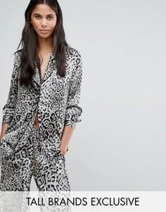 Рубашка в пижамном стиле с принтом Y.A.S Tall Steph - Мульти