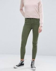 Зауженные джинсы цвета хаки ASOS RIDLEY - Зеленый