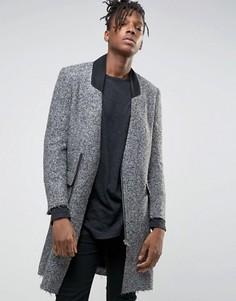 Пальто с необработанными краями Sixth June - Серый