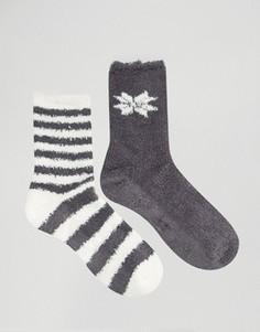Носки с полосками и снежинками Totes - Черный