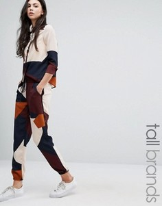 Спортивные штаны колор блок Vero Moda Tall - Мульти