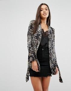 Куртка с рукавами‑кимоно и принтом пейсли Missguided - Черный