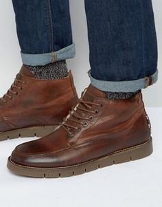 Кожаные ботинки на теплой подкладке Jack & Jones Kingston - Рыжий